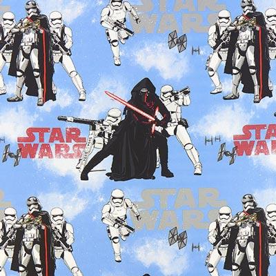 Star Wars dekostof Kylo Ren – lichtblauw