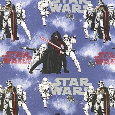 Star Wars dekostof Kylo Ren – koningsblauw