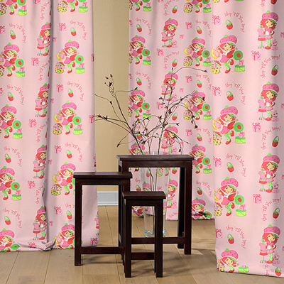 Strawberry Shortcake and her friends - beautiful blackout fabrics for the kids room