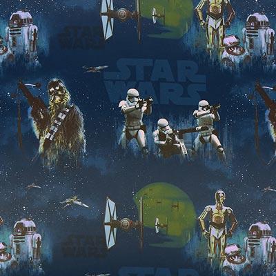 Star Wars verduisteringsstof Stormtrooper – blauw