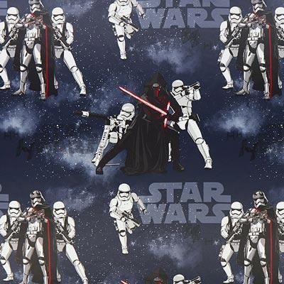 Star Wars verduisteringsstof Kylo Ren koningsblauw
