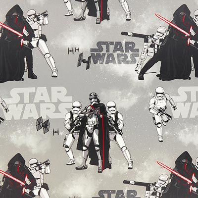 Star Wars Kylo Ren Black-Out Fabric – grey