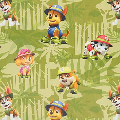 Paw Patrol Black-Out Fabric – green