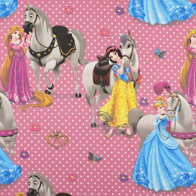 Disney Princesses & Horses – pink