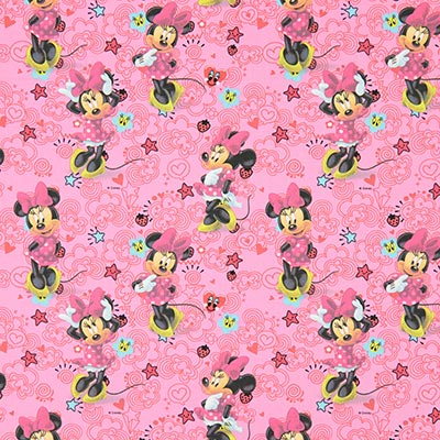 Katoenen stof Disney Minnie Mouse 1 – pink