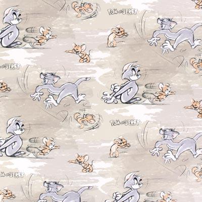 Cretonne  Tom & Jerry 1 – beige
