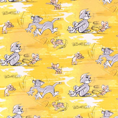 Tom & Jerry 2 Cretonne – yellow