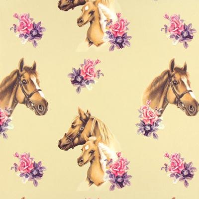 Cretonne Ponyhof – beige