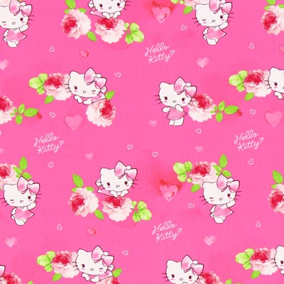 Cretonne  Hello Kitty Kitsy 1 – pink