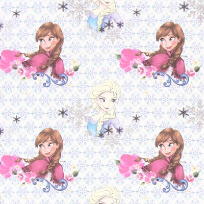 Cretonne Elsa & Anna 1 – wit