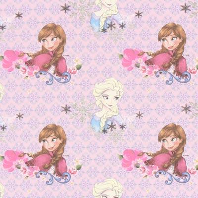 Cretonne Elsa & Anna 2 – roze