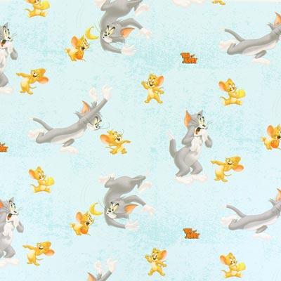 Cretonne  Tom & Jerry 4 – mintgroen