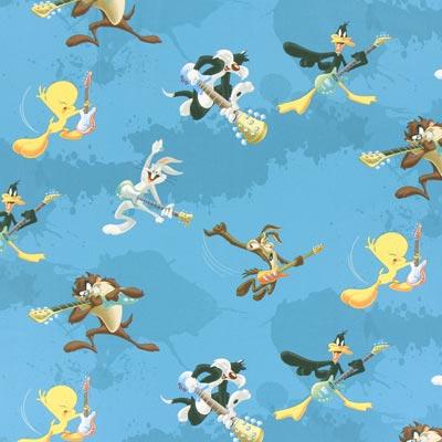 Cretonne  Looney Tunes – blauw