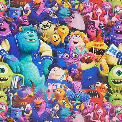Verduisteringsstof Monster & Co. – kleurenmix