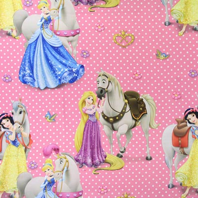 Blackout fabric Disney Princesses & Horses 2