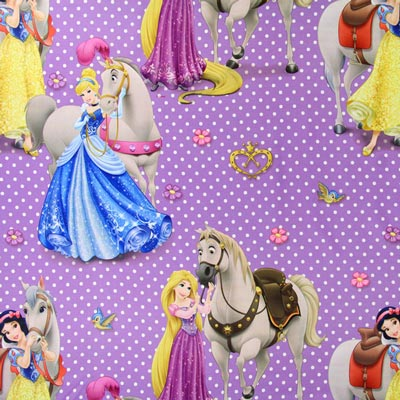 Blackout fabric Disney Princesses & Horses 3