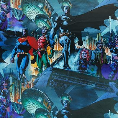 Verduisteringsstof superhelden – blauw