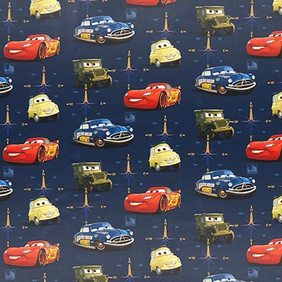 Verduisteringsstof Disney Cars 1 – blauw