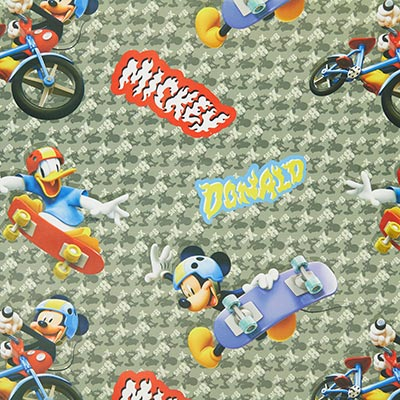 Disney Mickey Mouse Black-Out Fabric 2 – grey