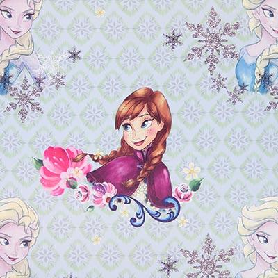 Mörkläggningstyg Disney Elsa & Anna – blå