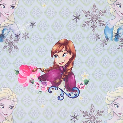 Verduisteringsstof Disney Elsa & Anna – blauw