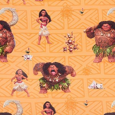 Disney Moana Black-Out Fabric 1 – orange