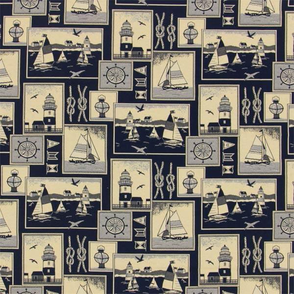 maritime dekostoffe blau bei maritime. Black Bedroom Furniture Sets. Home Design Ideas