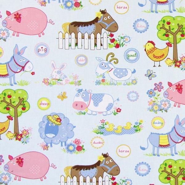 Telas infantiles con motivos de animales for Telas para cortinas infantiles