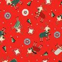 Cretonne Renne di Natale – rosso