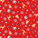 Cretonne Il mondo del Natale – rosso
