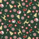 Cretonne Weihnachtswelt - dunkelgrün