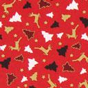 Cretonne Foresta d'inverno – rosso