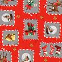 Cretonne Rudolph e i dolcetti – rosso