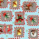 Cretonne Rudolph e i dolcetti – turchese