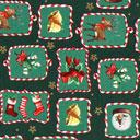 Cretonne Rudolph e i dolcetti – verde scuro