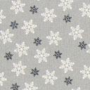 Cretonne Schneeflocken - grau