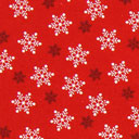 Cretonne Flocons de neige – rouge
