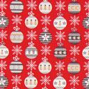 Cretonne Palle dell'albero di Natale – rosso