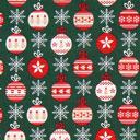 Cretonne Palle dell'albero di Natale – verde scuro