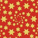 Cretonne Étoiles de Noël dorées – rouge