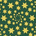 Cretonne Stelle di Natale dorate – verde scuro