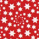 Cretonne Étoiles de Noël – rouge