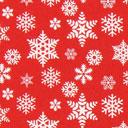 Cretonne Bufera di neve – rosso