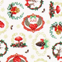 Cretonne Atmosfere di Natale – bianco lana