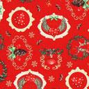 Cretonne Atmosfere di Natale – rosso