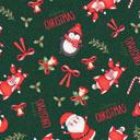 Cretonne Periodo natalizio – verde scuro