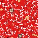 Cretonne Foresta natalizia – rosso