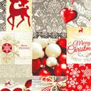 Tessuto natalizio Sfere – mix di colori
