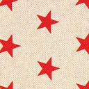 Tessuto natalizio Stelle rosse – beige