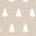 Tessuto natalizio Abete bianco – beige